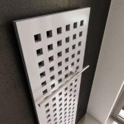 Designradiator Karo met handdoekbeugel