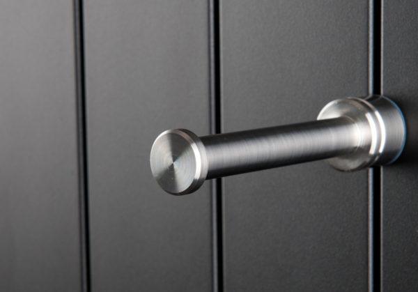 Handdoekknop geborsteld RVS