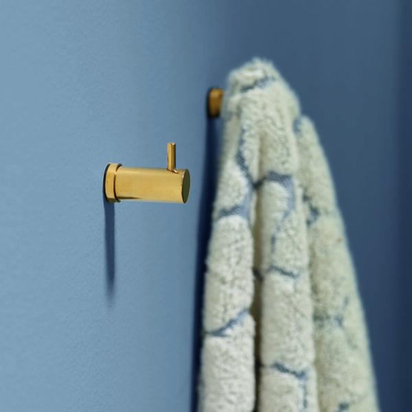 Handdoekknop messing